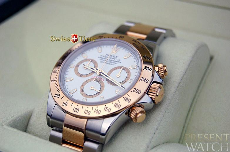 Rolex 116523 Daytona Cosmograph D serial 18K gold/SS in Collectors New Condition