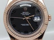 Rolex Day Date II 212835 Rose Gold Watch