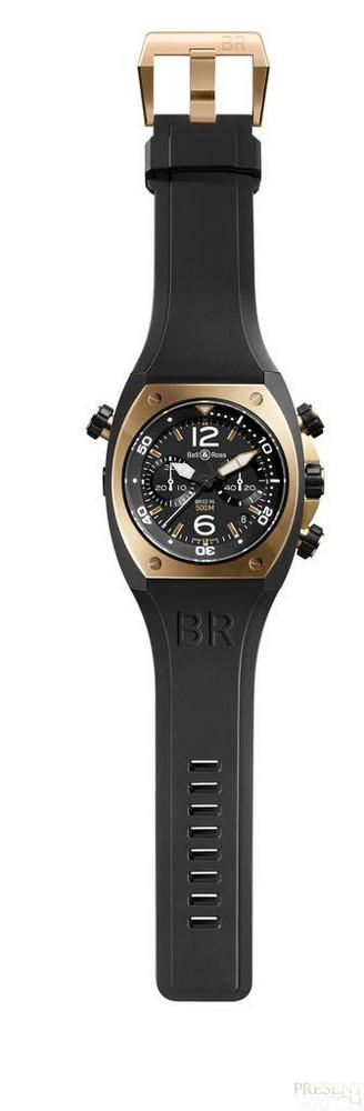 BR 02 CHRONO PINK GOLD