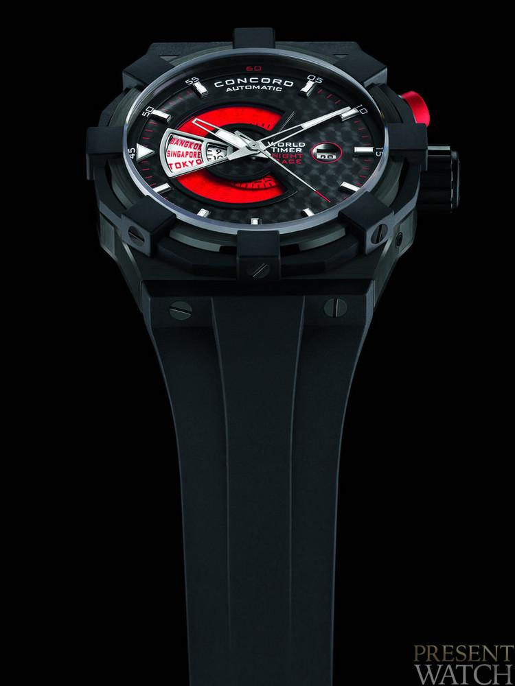 C1 WORLDTIMER RED by CONCORD