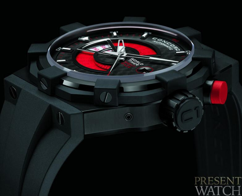 C1 WORLDTIMER RED SIDE