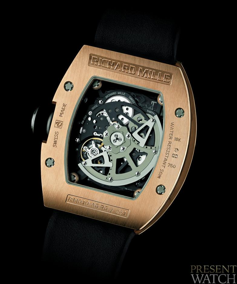 RICHARD MILLE RM 010 RED GOLD BACK
