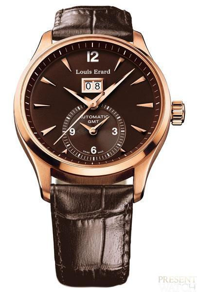 1931 Pink Gold Collection by Louis Erard (brown)