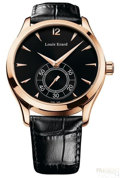 1931 Pink Gold Collection by Louis Erard (black)