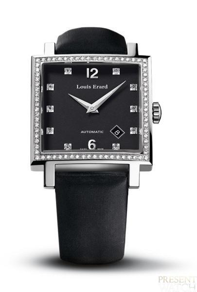 Carree Diamonds by Louis Erard (black)