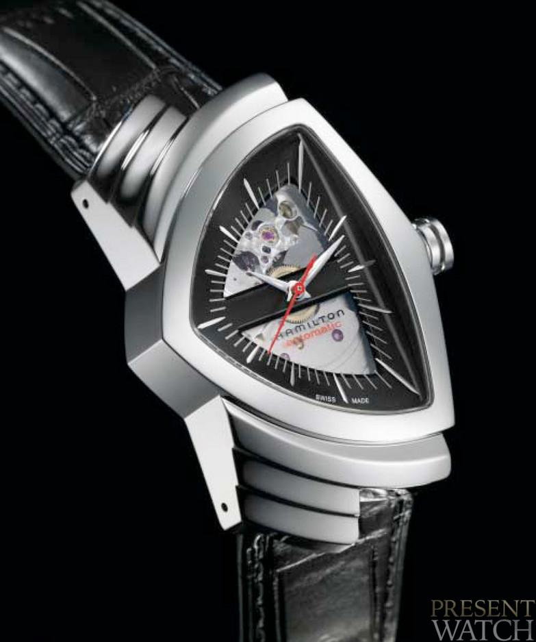In 1957 Hamilton created the world s first electric watch ... 50 years  later two special Ventura models celebrate in style 01c2dd02a61