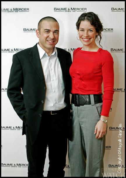 Baume & Mercier collection 2009 and Evangeline Lilly