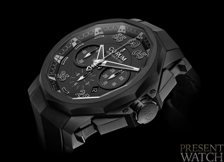 Corum Admiral's Cup Black Hull 48 / close up