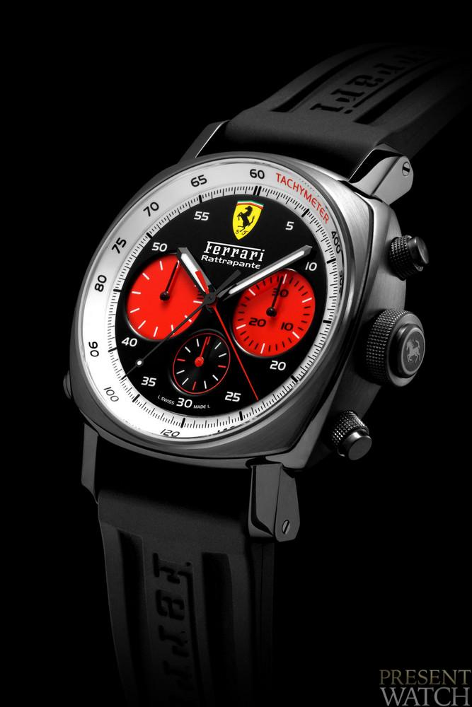 Ferrari Rattrapante Red Counters 45 mm, DLC