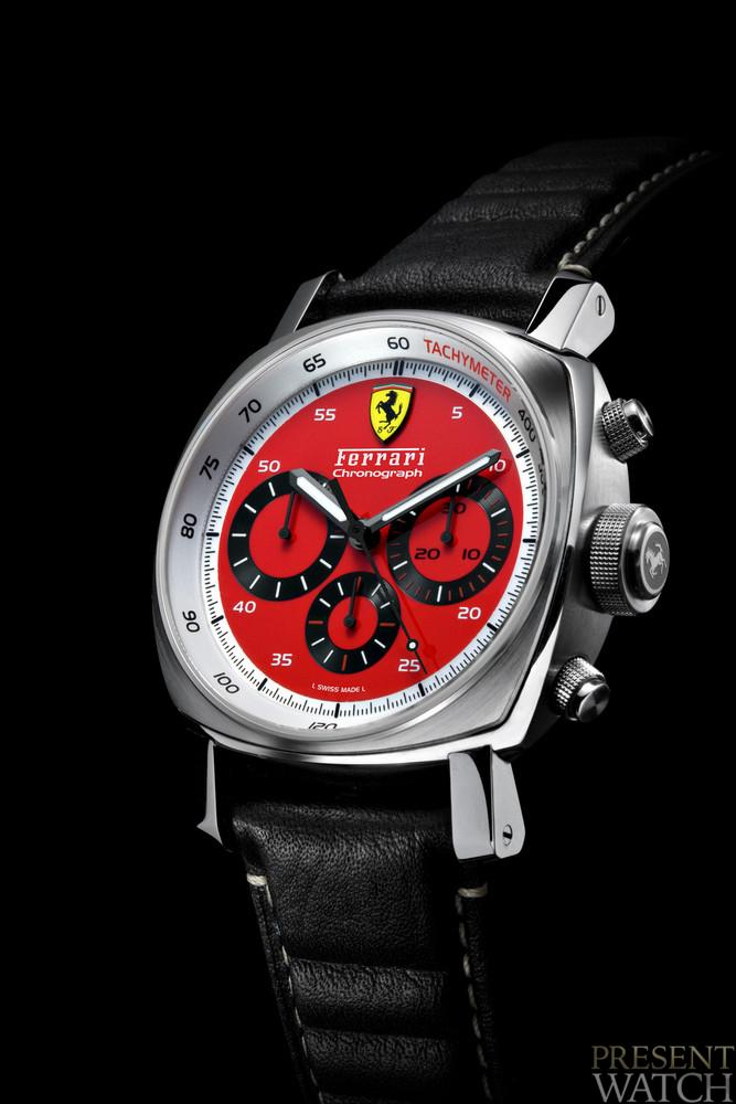 Ferrari Chronograph Red Dial 45 mm Steel