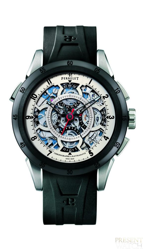 Perrelet semi-skeletonised split-seconds chronograph