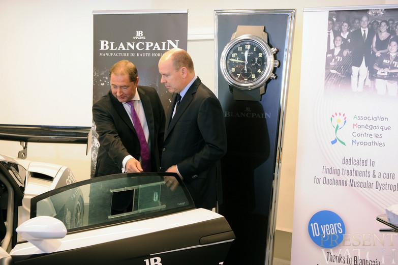HSH Prince Albert II of Monaco and Blancpain for an exceptional auction