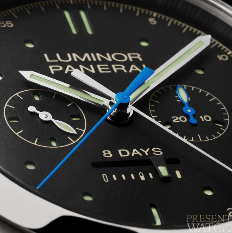 LUMINOR 1950 RATTRAPANTE 8 DAYS TITANIO 47MM