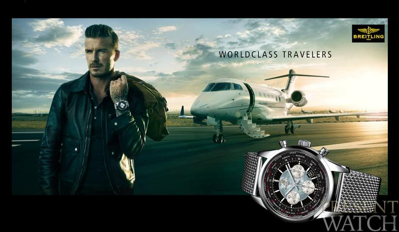 DAVID BECKHAM WITH BREITLING