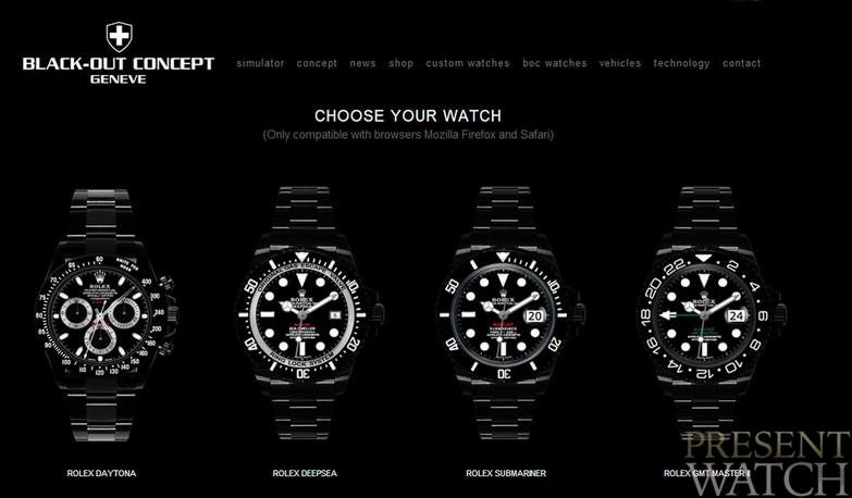 Blackout geneve watches
