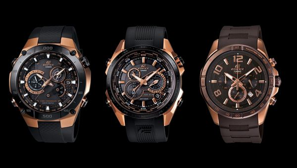 Edifice Black & Rose Gold