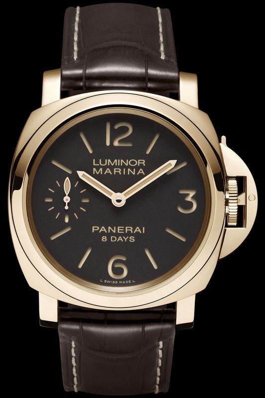 The new Panerai Marina 8 Days Oro Rosso