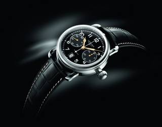 Longines avigation oversize crown second time-zone