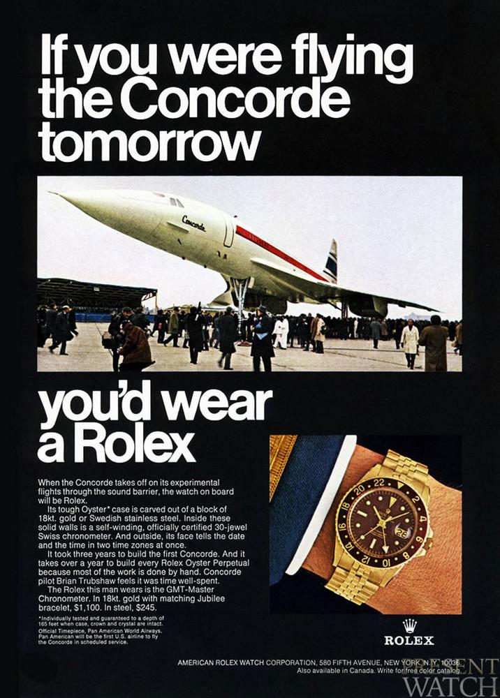 Concorde GMT advertisement 1968